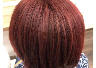 Vörös hajfestés 17. kerület női fodrászat