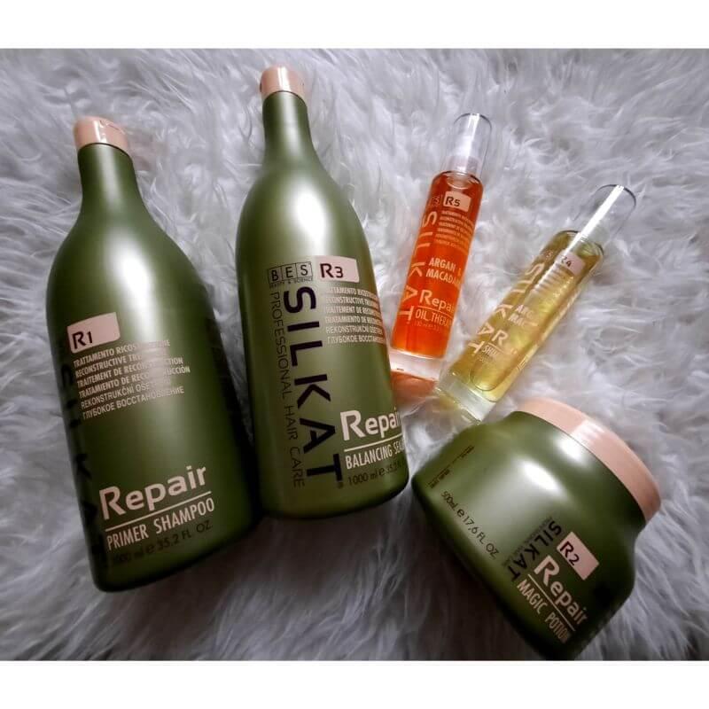 Silkat repair hajszerkezet építő eljárás a PompArt Szépségszalonban