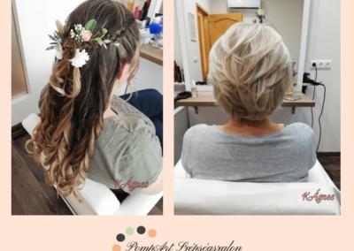 Esküvői haj - Balayage hajfestés - Kosztyu Ágnes fodrász
