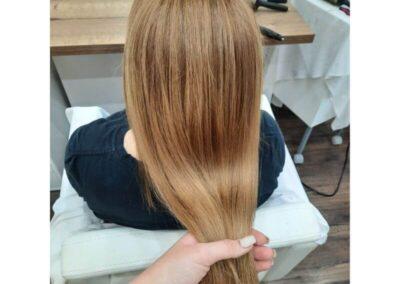 Közép szöke hajfestés
