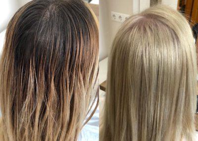 Szőke hajfestés